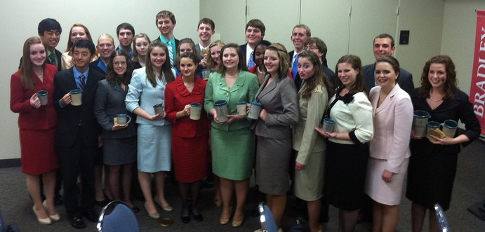 The Gustavus Forensics team placed third out of 51 teams at the Norton Tournament in Peoria, Ill. Submitted.