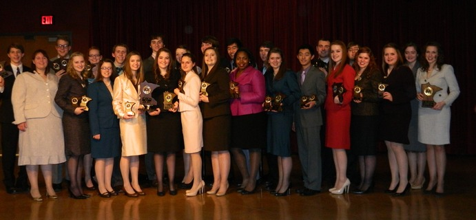 The Gustavus forensics team had top performers in every grade level at the State Tournament. Submitted.