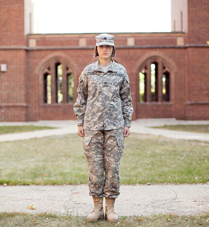 Sophomore English Major, Heather Paaverud joined the National Guard and is a member of the ROTC program at Gustavus. </em>Mara LeBlanc</em>
