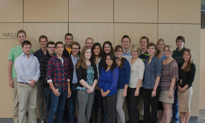 Student Senators pose for a group photo. <em>Nick Theisen</em>