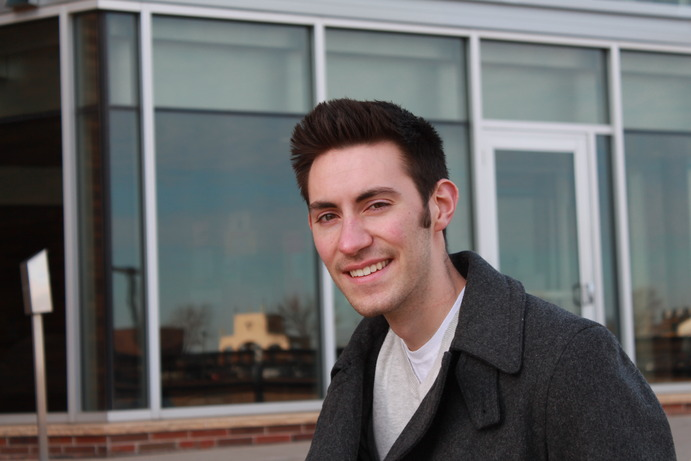 Elliot, a second-year Colligate Fellow in Southwest Hall, strives for excellence in all aspects of his life. <em>Vinny Bartella</em>