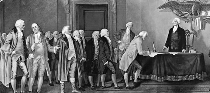 After the fiasco that was the Articles of Confederation, these geniuses realized a need for a strong centralized government. I doubt many of them would side with Ronald Reagan or Paul Ryan nowadays. <em>Creative Commons</em>
