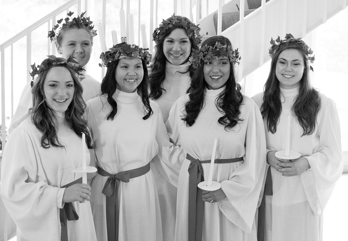 Nicole was crowned 2012 St. Lucia after a vote by the Gustavus community. <em> Submitted/Keneth LeBlanc</em>