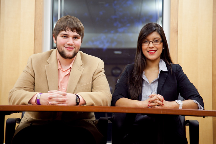 Matt and Dani are preparing to lead the Gustavus Student Senate in the 2013-2014 acedemic year. <em>Mara LeBlanc</em>