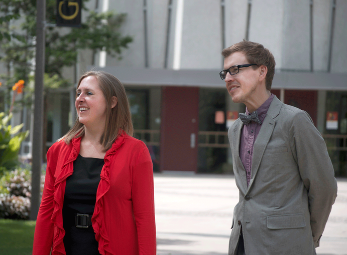 Arriving on campus this past summer, Erickson and Konkol forged a strong connection to campus and each other, aiming to experience student and spiritual life on campus as a team. Allison Hosman