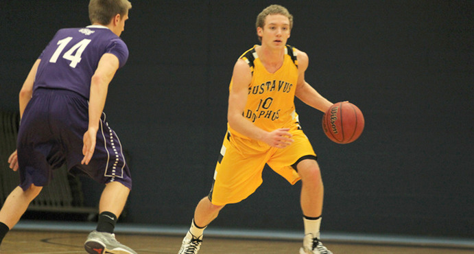 Junior Captain Isaac Tapp is a returning player that will be key to the men's basketball team's success this season. Gustavus Sports Information