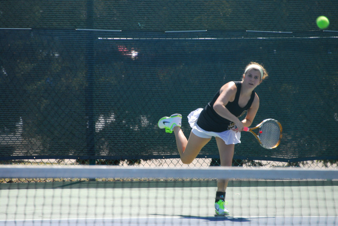 Junior Laurel Krebsbach has been a welcoming presence for underclassmen on the women's tennis team. With only one senior on the team, the women have had to learn from each other about playing at the collegiate level. Gustavus Sports Information