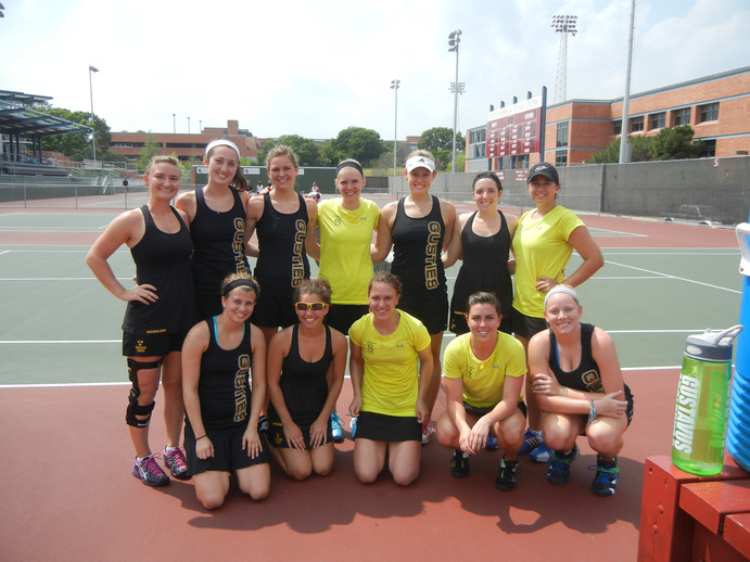 This Spring Break, the women's tennis team will return to San Antonio, where this picture was taken in 2012, to train and compete in the warm weather. Submitted