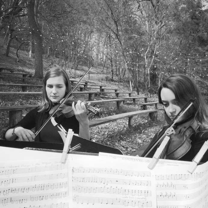 Kendra Frey and Elizabeth Fröden are part of the String Quartet that will perform. Submitted