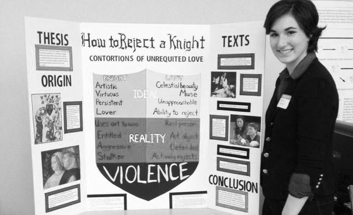 "Sophomore Communication Arts and Literature Teaching major Mikaela Warner presented her project titled ""How to Reject a Night"" at the event. Submitted"