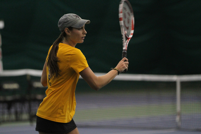 Sidney Dirks and the Gustavus Women's Tennis team will host Hamline University, St. Catherine Univeristy and Morningside College this weekend.