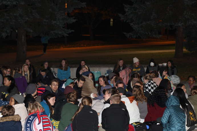 In light of recent election results, students have come to gather in many forms. Both the Diversity Center and Members of the Provost Office reached out to students to offer comfort and solace in times of uncertianty. Building Bridges chose to organize a sit-in (pictured above) to give students a shared space to express their feelings and fears of marginalization and oppression.