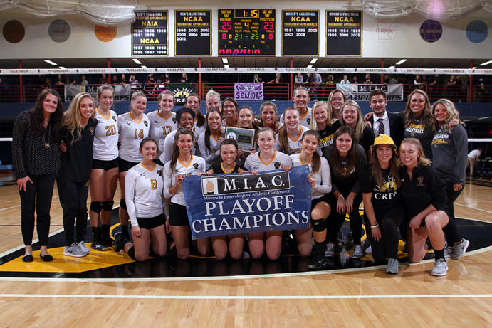 The Gusties defeated Bethel 3-1 to win the MIAC Playoff Championship in a rematch of last year's game. The Gusties now turn their focus to the NCAA tournament, where the
