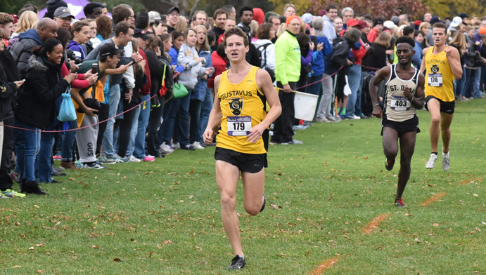 Senior Thomas Knobbe led the Gusties with a fourth place finish in the MIAC Championship on Oct. 29. Senior Evan Jones followed close behind, finishing sixth. The Gustie Men came in third at the MIAC Championships, their best finish in 24 years. The Women finished 11th but look to improve in the regionals on Nov. 14.