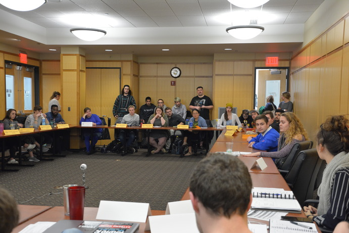 Eleven members of the student body attended last Monday's student senate meeting to express concerns and dissatisfaction surrounding this year's co-presidental election.