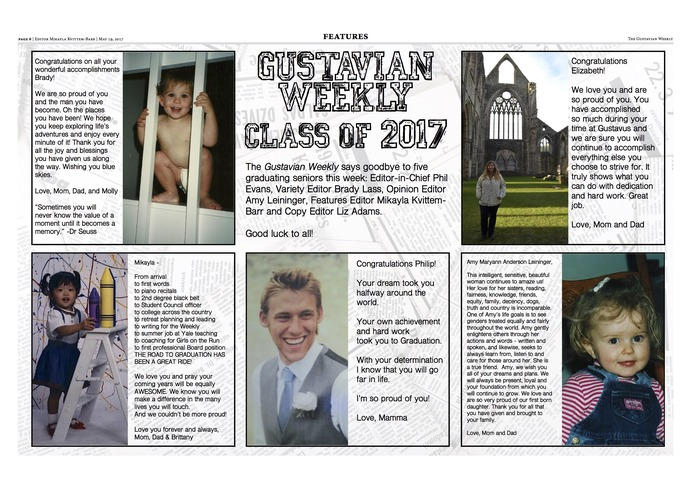 Gustavian Weekly Class of 2017