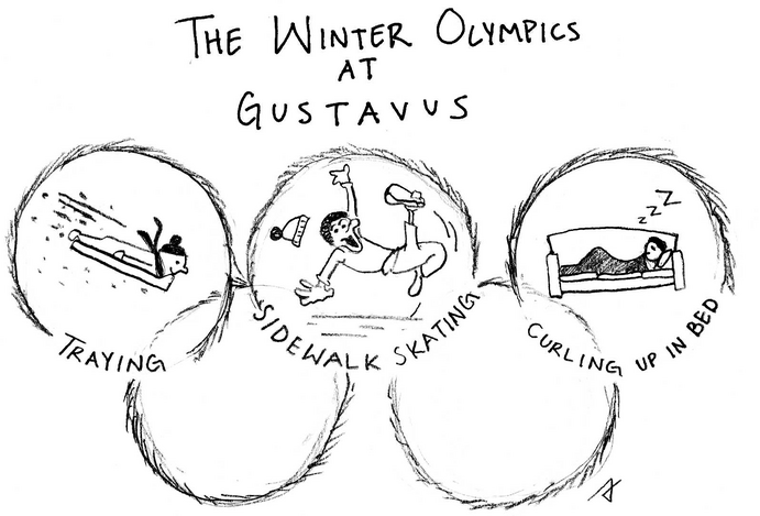 """Winter Olympics at Gustavus"" -  Trevon Sladek"
