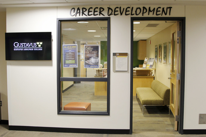 The entrance to the Career Development center in the Jackson Campus Center.