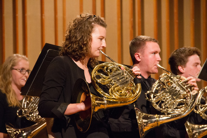 Junior Andy DeLuca, Senior Christian Gustafson, and Senior McKenzie Perry will perform solos during the concert as winners of the Gustavus Concerto & Aria Competition.