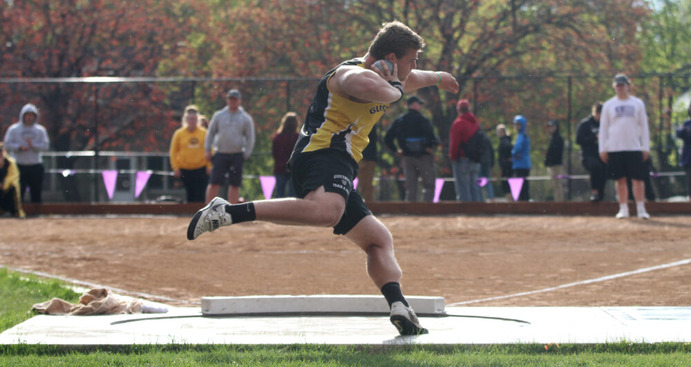 Senior Michael Hensch made history at the MIAC Outdoor Championships, becoming the first thrower ever to place first in the shot put, javelin, discus, and hammer throw.