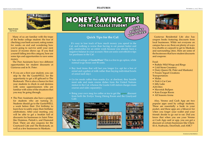 Money Saving Tips For The College Student The Gustavian Weekly The Gustavian Weekly